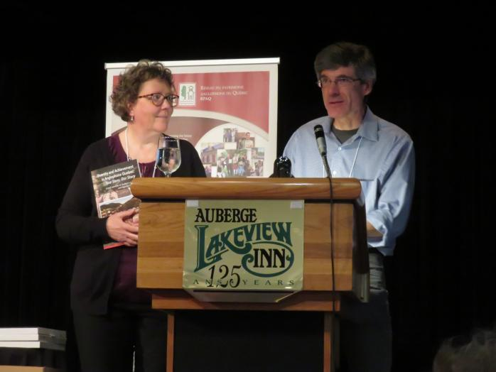 Project directors Heather Darch and Rod MacLeod launched QAHN's new publication at the Lakeview Inn in Knowlton. Photo - Renee Arshinoff