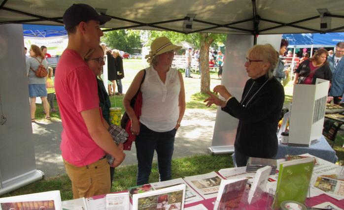 At the QAHN tent, Townshippers' Day, Brome, Quebec (September 17, 2016)