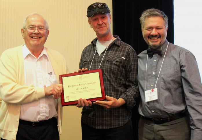 2016 Richard Evans Award winner Serge Malenfant (accepting on behalf of M.U.R.I.R.S.)