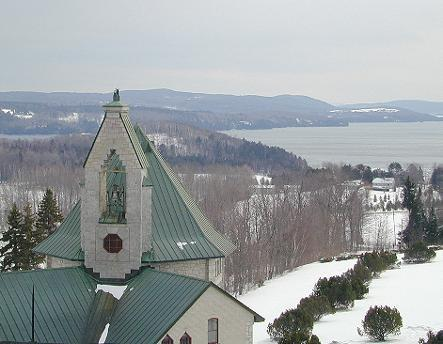 Bell Tower and Lake Memphremagog