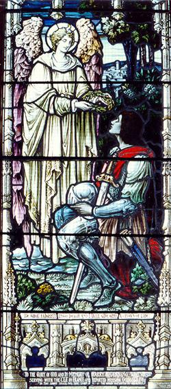 """""""Soyez fidèles jusqu'à votre mort et je vous donnerai la Couronne de la Vie"""" / """"Be Thou Faithful Unto Death and I Will Give You a Crown of Life"""""""