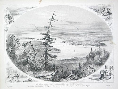 "Vu de Sugar Loaf vers le nord. Lac Memphrémagog / ""View from Sugar Loaf Looking North, Lake Memphremagog"""