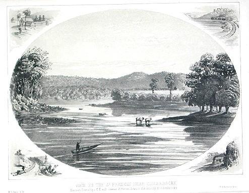 """Vue sur la rivière Saint-François près de Sherbrooke / """"View on the St. Francis near Sherbrooke"""""""