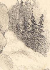 """Cascades sur la rivière Coaticook près du village de Coaticook / """"Falls on the Coaticook River, near Coaticook Village"""""""