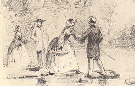 """Promeneurs à la traverse à gué / """"Party at the Crossing"""""""