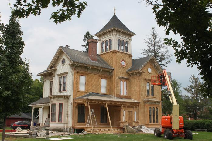 The historic Butters House, on Dufferin Street in Stanstead, is currently being restored. The house, which was built in the Italianate style in 1866, is currently the property of Stanstead College. (Photo - Matthew Farfan)