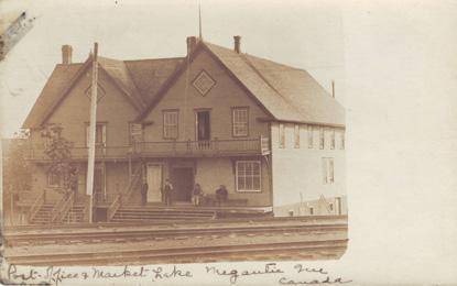 Bureau de poste et marché, Lac Mégantic / Post office and market, Lake Megantic
