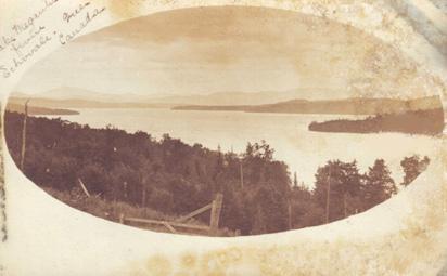 Lac Mégantic, vue d'Echo Vale / Lake Megantic, from Echo Vale