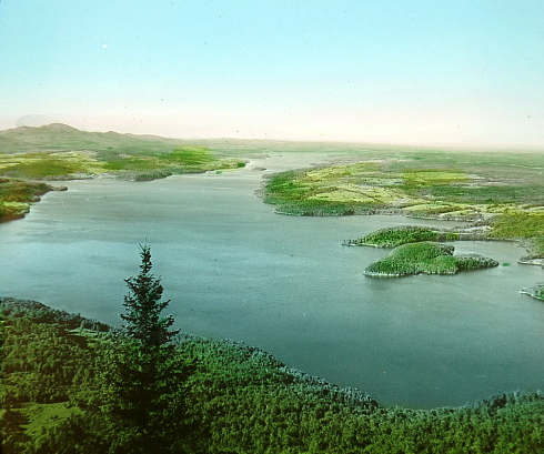 Lake Memphremagog looking north from Owl's Head (1897).