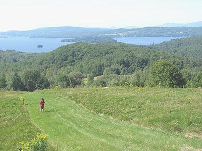 Lac Memphrémagog, vers le sud-ouest / Lake Memphremagog, looking southwest