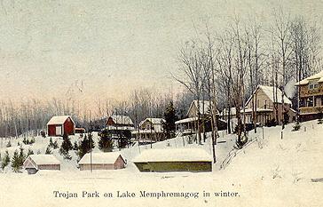 Trojan Park sur le lac Memphrémagog, v. 1910 / Trojan Park, Lake Memphremagog, c.1910