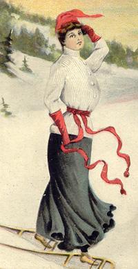 Une jolie dame / A beautiful lady, Sherbrooke, 1905