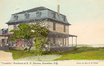 Lordelle, Maison de E. P. Stevens / Lordelle, Residence of E. P. Stevens, Knowlton