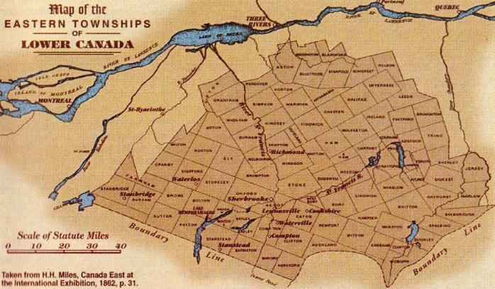 Eastern Townships / Cantons-de-l'Est (1862)